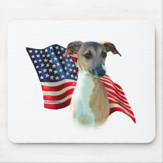 Italian Greyhound Flag Mouse Pad