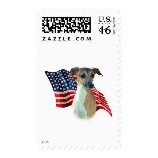 Italian Greyhound Flag Postage Stamps