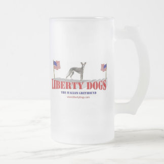 Italian Greyhound Frosted Glass Beer Mug