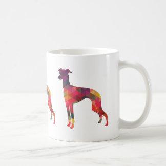 Italian Greyhound Geo Pattern Silhouette - Multi Coffee Mug