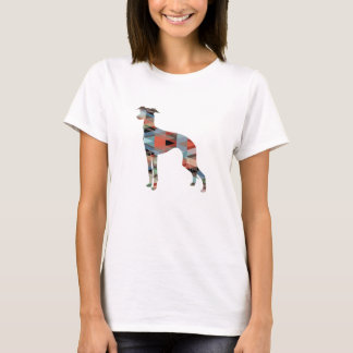 Italian Greyhound Geo Pattern Silhouette - Plaid T-Shirt