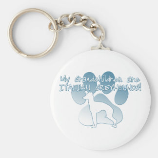 Italian Greyhound Grandchildren Keychain