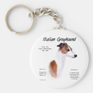 Italian Greyhound History Design Basic Round Button Keychain
