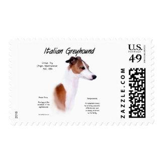 Italian Greyhound History Design Stamps