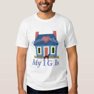 Italian Greyhound Home Is Tee Shirt
