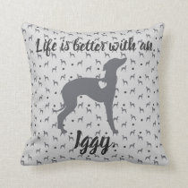 Italian Greyhound Home Pillow Iggy Rescue Dog.