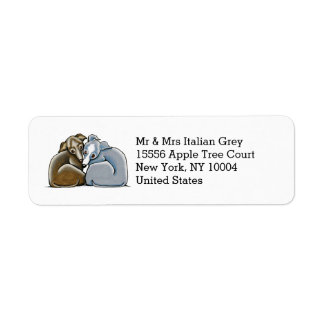 Italian Greyhound Huddle Custom Label