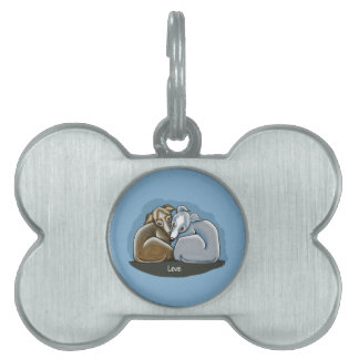 Italian Greyhound Huddle Pet ID Tags