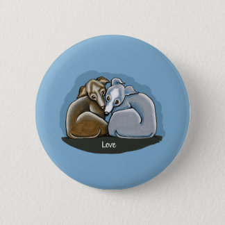 Italian Greyhound Huddle Pinback Button
