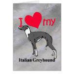 Italian Greyhound (Iggy) Greeting Card