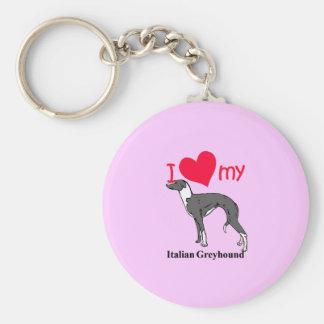 Italian Greyhound (Iggy) Basic Round Button Keychain