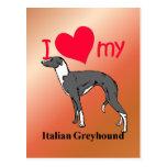 Italian Greyhound (Iggy) Postcard