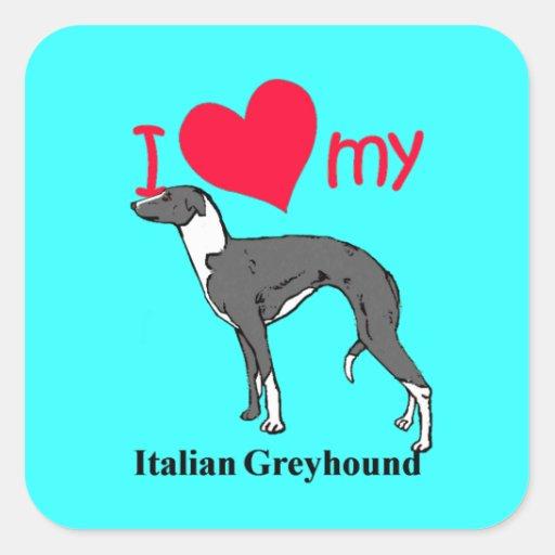 Italian Greyhound (Iggy) Square Sticker