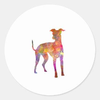 Italian Greyhound in watercolor Classic Round Sticker