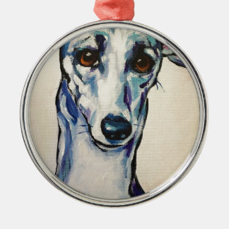 Italian Greyhound Metal Ornament