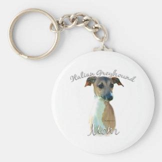 Italian Greyhound Mom 2 Basic Round Button Keychain