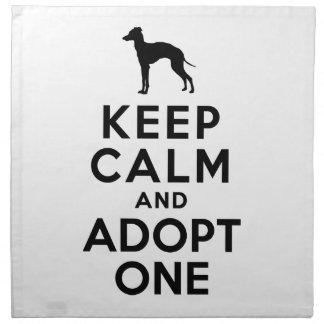Italian Greyhound Napkins