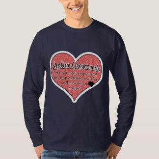Italian Greyhound Paw Prints Dog Humor T-Shirt