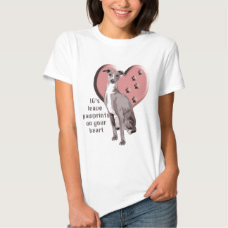 Italian Greyhound Pawprints Shirt