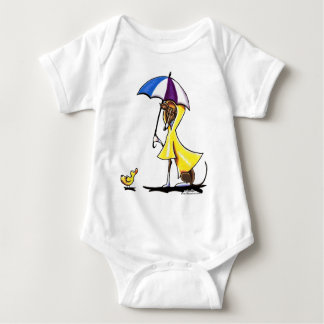 Italian Greyhound Raincoat Baby Bodysuit