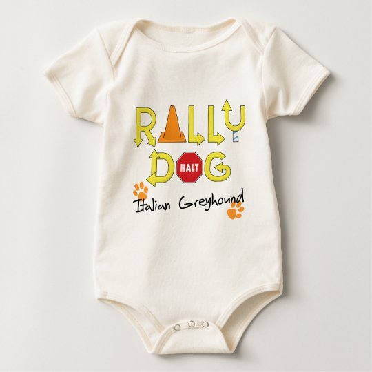 Italian Greyhound Rally Dog Baby Bodysuit