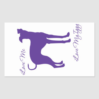 Italian Greyhound Rectangular Sticker