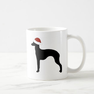 Italian Greyhound Santa Hat Coffee Mug