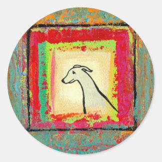 Italian Greyhound - Sensitive high strung dog art Classic Round Sticker