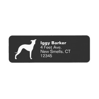 Italian Greyhound Silhouette Label