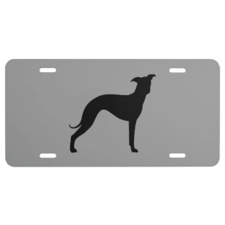 Italian Greyhound Silhouette License Plate