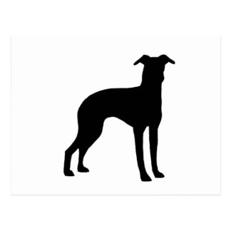 italian greyhound silhouette postcard