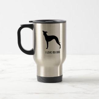 Italian Greyhound Silhouette Travel Mug
