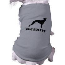 Italian Greyhound Silhouette with Custom Text Shirt