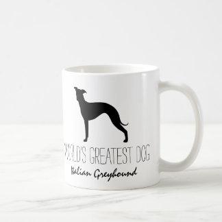 Italian Greyhound Silhouette World's Greatest Dog Coffee Mug