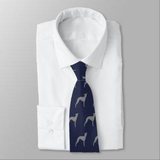 Italian Greyhound Silhouettes Pattern Tie