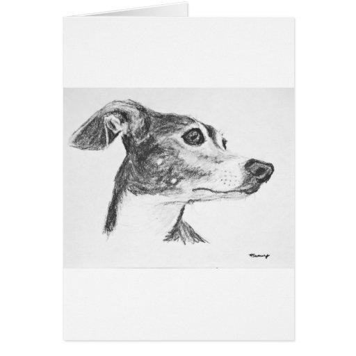 Italian Greyhound Sketch Greeting Card