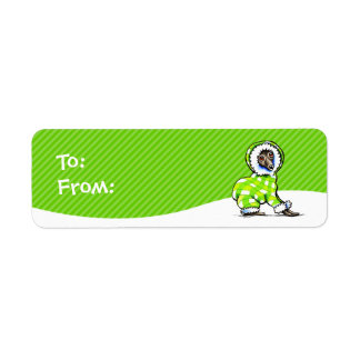 Italian Greyhound Snowsuit Christmas Gift Tags Label