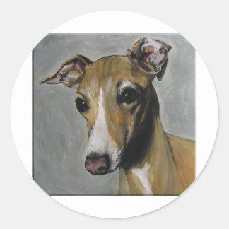 Italian Greyhound Classic Round Sticker