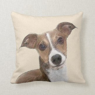 Italian Greyhound Throw Pillow