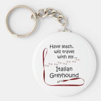 Italian Greyhound Travel Leash - Keychain