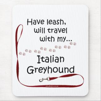 Italian Greyhound Travel Leash Mouse Pad