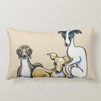 Italian Greyhound Trio Lumbar Pillow