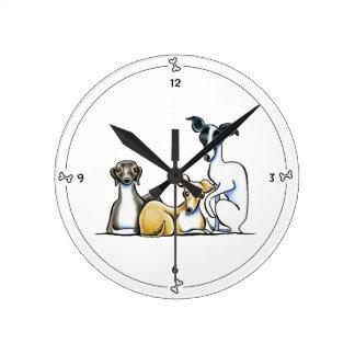 Greyhound Wall Clocks | Zazzle