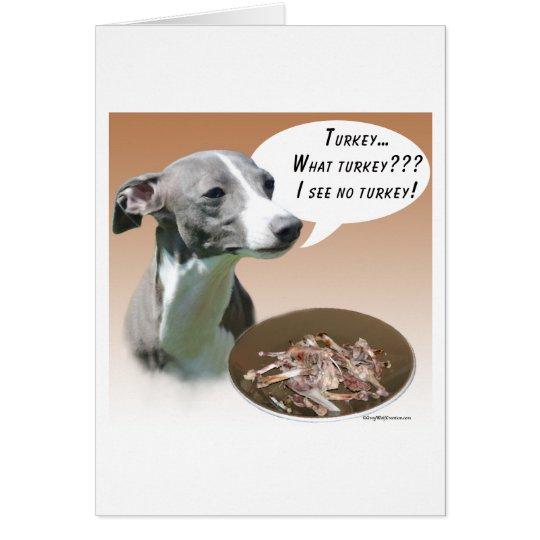 Italian Greyhound Turkey Card