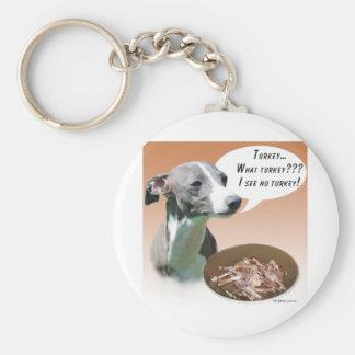 Italian Greyhound Turkey Basic Round Button Keychain