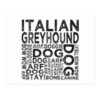 Italian Greyhound Typography Postcard
