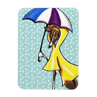 Italian Greyhound Umbrella Crazy Rectangular Magnets