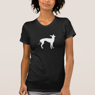 Italian Greyhound White on Black T Shirt