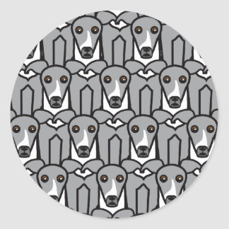 Italian Greyhounds Classic Round Sticker