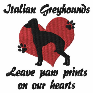 Italian Greyhounds Leave Paw Prints
